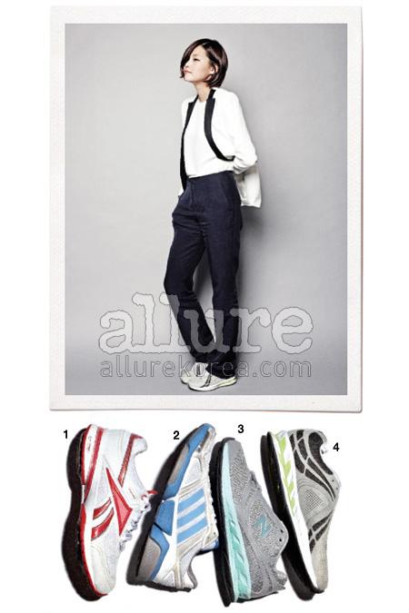 1 12만9천원, 리복(Reebok). 2 12만9천원, 아디다스 오리지널스(Adidas Originals). 3 9만9천원, 뉴발란스(New Balance). 4 11만9천원, 뉴발란스.
