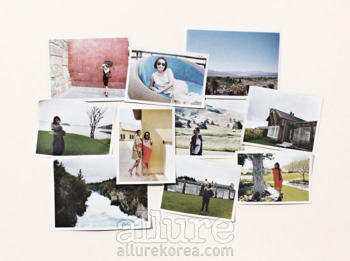 스페인, 라스베이거스, 뉴질랜드 등을 여행하며 촬영한 사진들. 여행을 통해 보고 느낀 것들은 그녀의 작업에 영감이 되어준다.
