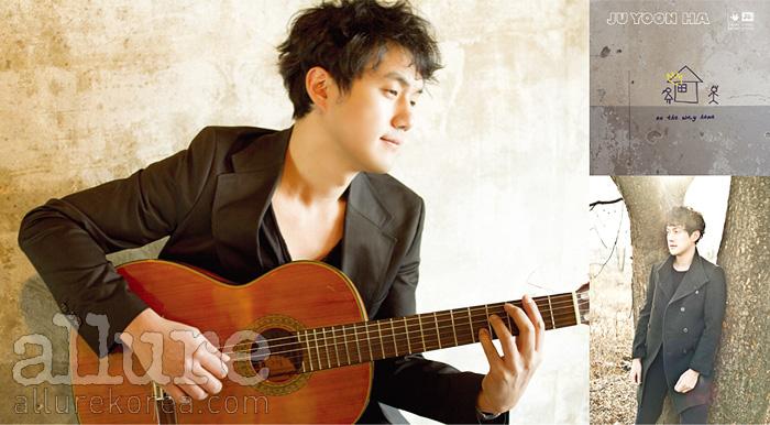 (왼쪽부터) 첫 솔로 앨범을 발매한 보드카레인의 주윤하, 주윤하의 1집 앨범 <On The Way Home>