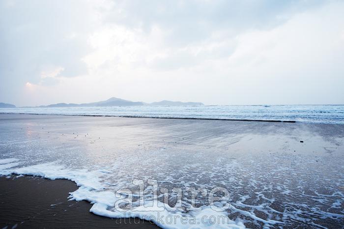 태안반도에는 수많은 작은 해변이 존재한다. 사구가 있는 신두리 해변의 겨울.