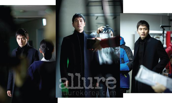 과거의 아버지를 만나러 가는 장면을연기하는 이진욱과 그를 완벽하게담아내기 위해 분주한 스태프들.