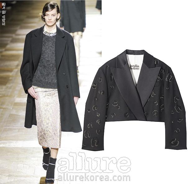 실크 소재 턱시도 재킷은 가격미정, 쟈뎅드 슈에뜨(Jardin De Chouette).