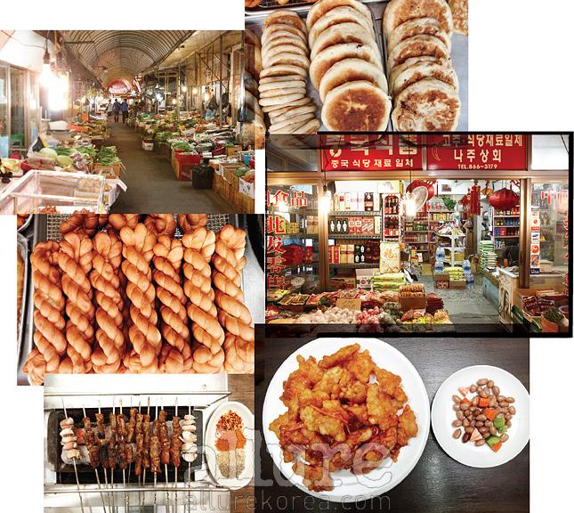 화재 사고를 딛고 일어난 신천 새마을시장은 인근 주민들의 생활과 밀착되어 있다. 만두와 떡볶이, 닭강정, 냉면, 두부, 치킨 등 온갖 먹거리와 깔끔하게 진열된 식료품을 구할 수 있는 곳이다.
