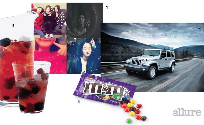 1 강승현의 일상을 엿볼 수 있는 인스타그램 2 지프(Jeep)의 랭글러 언리미티드 루비콘(Wrangler Unlimited Rubicon). 3 레드 와인에 과일을 넣어 만드는 술 샹그리아 4 알록달록한 색상의 엠앤엠즈(m&m's) 초콜릿