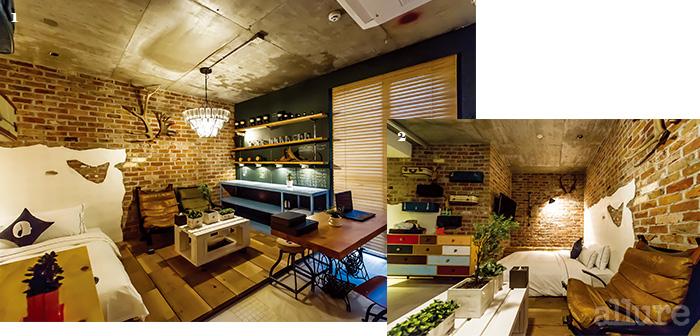 1 런던의 스튜디오를 재현한 호텔 더 디자이너스 객실 2 빈티지 요소가 가득하다