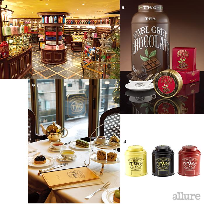 1 TWG 티 살롱&부티크의 내부.  2,4 다양한 티 패키지. 3 브런치부터 애프터눈 티도 즐길 수 있다.