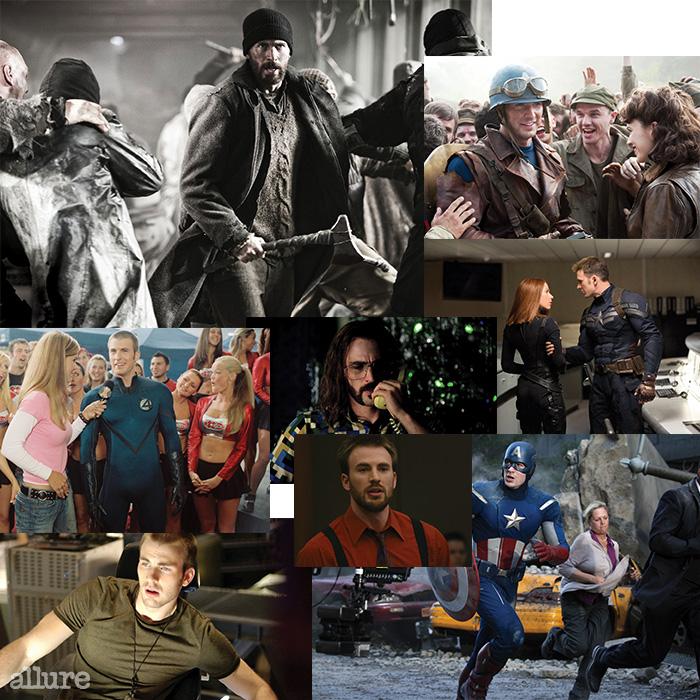 크리스 에반스의 필모그래피에서 가장 중요한 자리를 차지하는 것은 역시 캡틴 아메리카일 것이다. ,  그리고 새로 개봉할  모두 세 편에서 캡틴 아메리카를 연기했다. 그러나 , 에서는 배우로서 그의 진지한 고민과 영화에 대한 열망을 엿볼 수 있다.