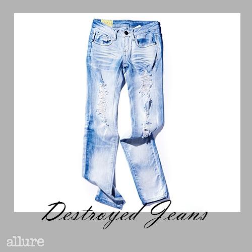 면 소재 디스트로이드 진은 10만원대, 머신 진(Machine Jeans).