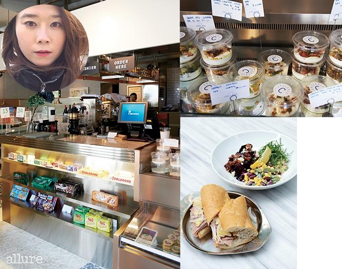 이형준 셰프가 좋아하는 것들로 가득 채운 델리숍. 간단한 식사부터 식료품까지 판매한다. 오늘의 샌드위치와 샐러드면 하루가 든든하다.