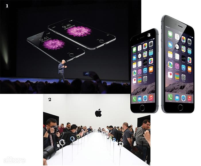 1, 3애플 이벤트에서선보인 아이폰6와아이폰6플러스. 2 이벤트 후직접 신제품을 시연해볼 수 있는핸즈온 공간.
