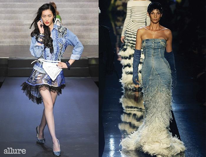 2007년봄/여름컬렉션의 데님 쿠튀르 드레스.