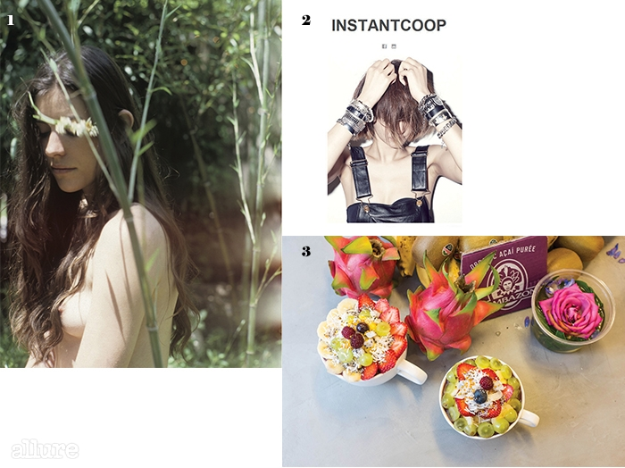1마크 보스윅의 화보. 2고준희가 직접꾸미는 블로그'Instantcoop'. 3아사이베리와 과일이 듬뿍올라간 아사이볼.