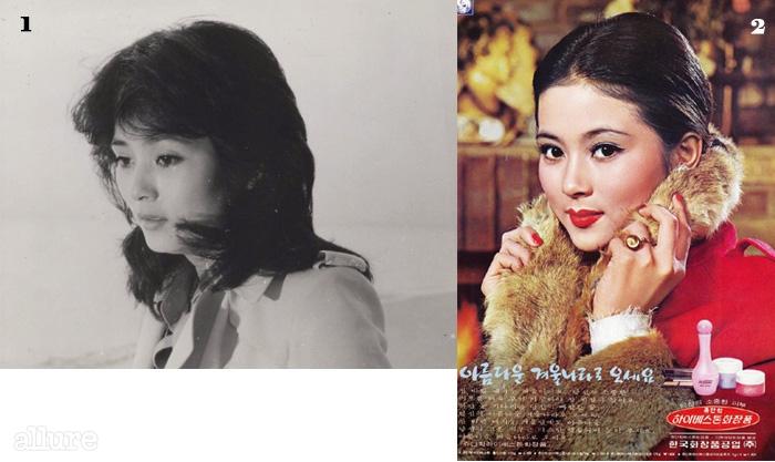 1영화 <마지막 겨울>(1978). 270년대 중반 쥬단학화장품 모델 시절.