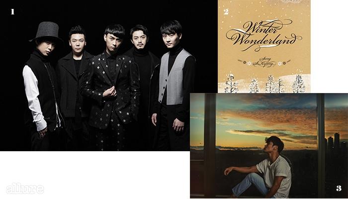 1 8년 만에 팀을재결성하고 앨범을발매한 버즈. 2 성시경의  앨범.3 신보를 통해다양한 장르를 시도한김범수.