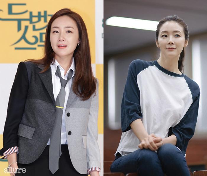 tvN 드라마 <두 번째 스무 살>의 제작발표회 현장에 참석한 최지우
