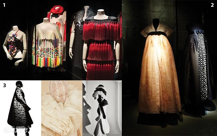 1 오방색 중 '적(赤)'을 표현한이상봉의 의상 2한복에서 영감 받은 샤넬 2016 크루즈 컬렉션 3진태옥의 Jinteok,Creation of 50 Years>.