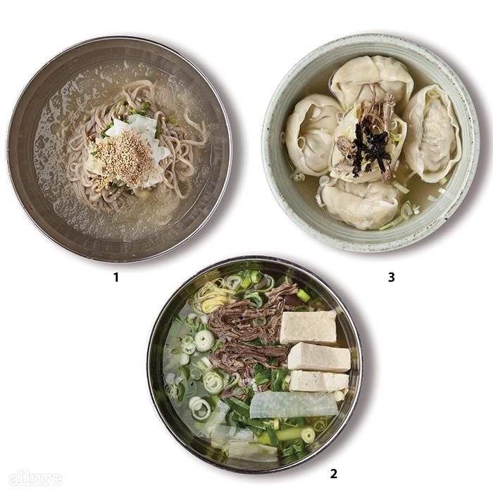 1 하단의 메밀냉칼국수2 반룡산의 가릿국밥3 어만두의 개풍만두
