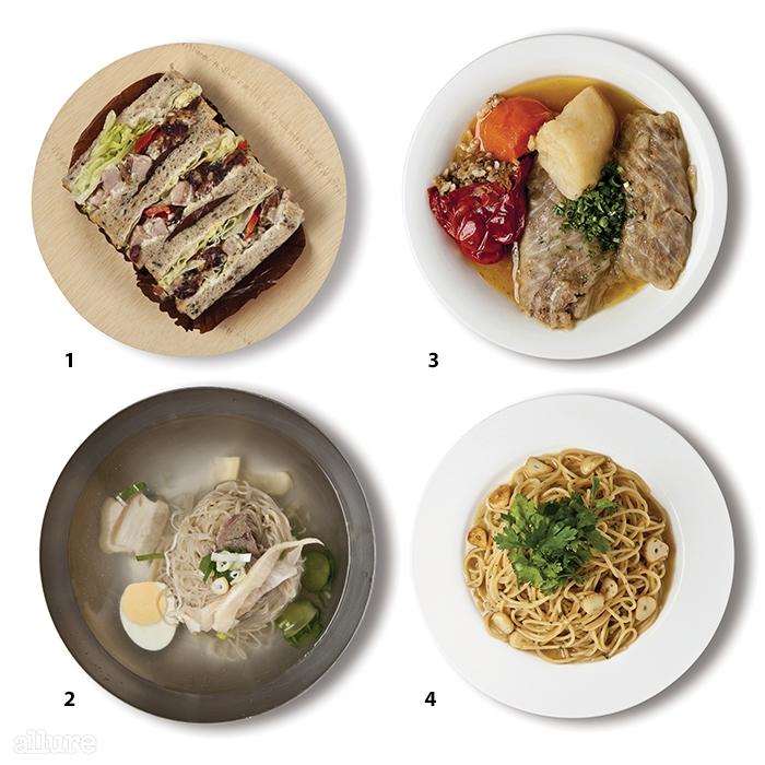 1 김록훈 베이커리의크랜베리 닭가슴살 샌드위치2 평양면옥의 평양냉면3 사마리칸트의 양배추 고기말이4 뜨라또리아의 앤초비 파스타