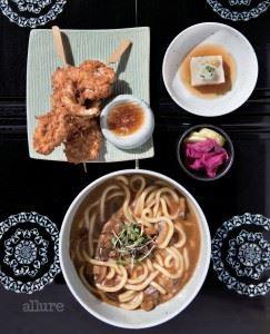 치킨 가라아게와 카레우동