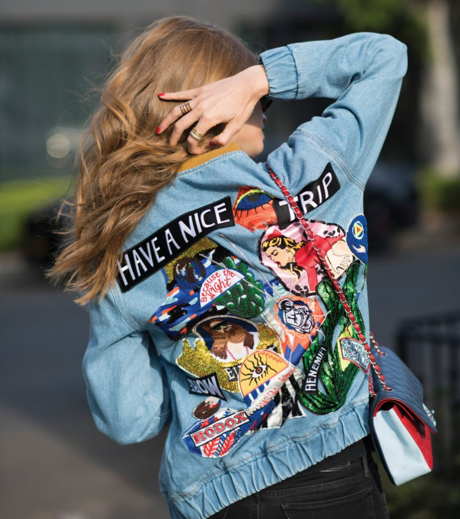 LOS ANGELES, CA - JUNE 12:  Chiara Ferragni is wearing Levi's jeans, Gucci shoes and sunglasses, vintage tshirt, filles a papa denim jacket, Chanel bag seen in the streets of Los Angeles on June 12, 2016 in Los Angeles, California.  (Photo by Timur Emek/Getty Images)