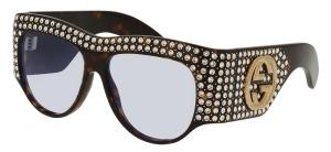 크리스털 장식의 아세테이트 소재선글라스는 가격미정, 구찌(Gucci).