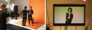 나스와의 협업 컬렉션 광고 캠페인을 촬영 중인 샬롯 갱스부르. 컬렉션 제품으로 평소 좋아하는 스모키 아이 메이크업을 하고 카메라 앞에 섰다.