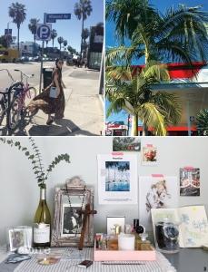 1 아기자기한 숍으로 유명한 애보키니 거리에서의 한 컷. 2 마음의 평온을 가져다주는 야자수. 3 LA의 젊은 아티스트의 드로잉과 책 등 좋아하는 이미지를 모아놓은 방 한 켠.