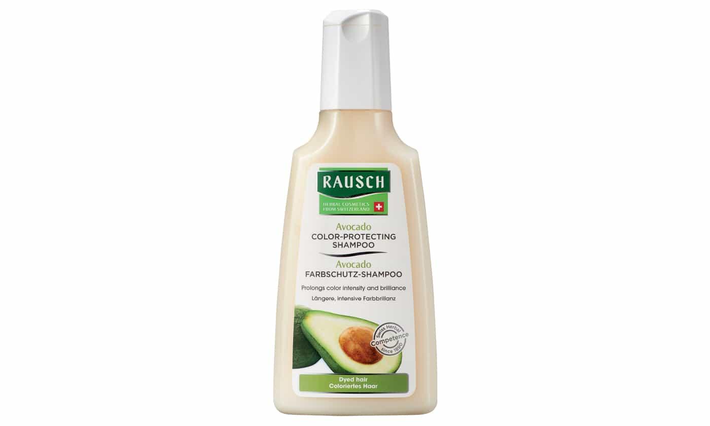 라우쉬의 아보카도 컬러 프로텍팅 샴푸. 염색 헤어용 샴푸. 파라벤, 실리콘 무첨가 제품으로 약산성인 pH5~6을 띤다. 200ml 2만4천원
